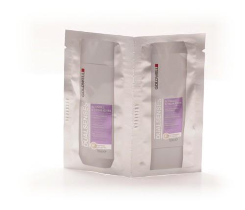Goldwell Dualsenses Blondes & Highlights Shampoo + Conditioner, 2 x 10ml