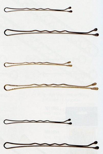 Haarklemmen gold gewellt 5cm, 500 Stück