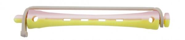 Kaltwellwickler 70mm kurz Ø 8mm gelb-rosa, 12 Stück
