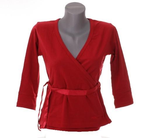 Damen T-Shirt von Goldwell langarm rot, Größe S