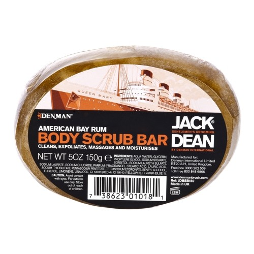 Jack Dean Body Scrub Bar American Bay Rum, 150g