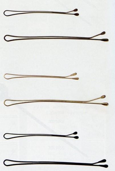 Haarklemmen schwarz glatt 7cm, 500 Stück