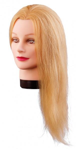 Comair Übungskopf Lilly Echthaar blond, 40cm