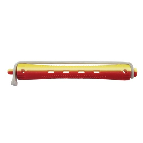 Kaltwellwickler 95mm lang Ø 9mm gelb-rot, 12 Stück