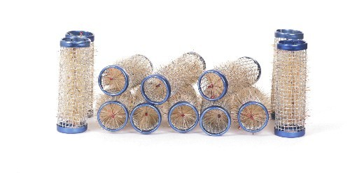 Drahtwickler mit Borsten blau Ø 21mm, 12 Stück
