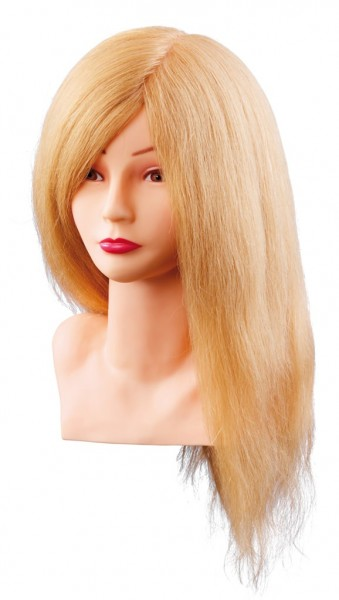 Comair Übungskopf Louisa Echthaar blond, 40cm