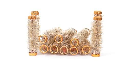 Drahtwickler mit Borsten gold Ø 13mm, 12 Stück