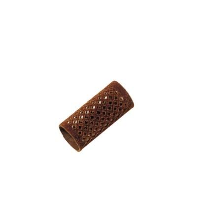 Metallwellwickler lang braun Ø 28mm