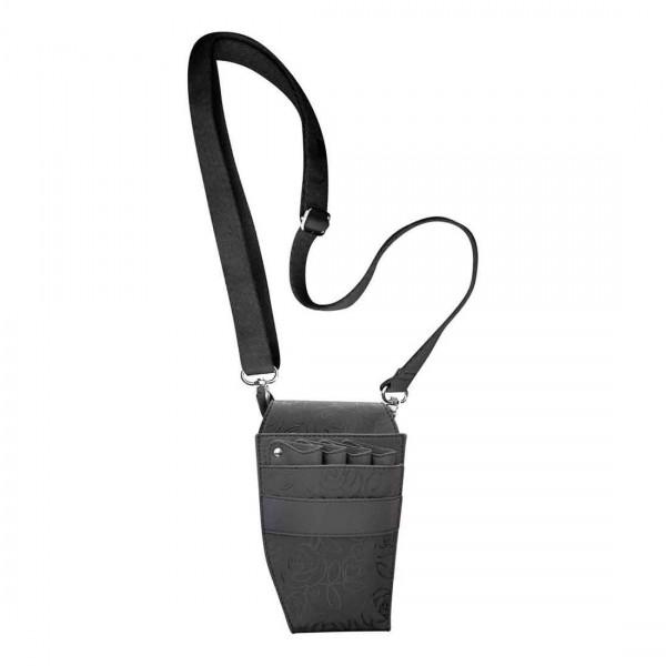 HairForce Werkzeugtasche Flower schwarz, 21 x 13cm