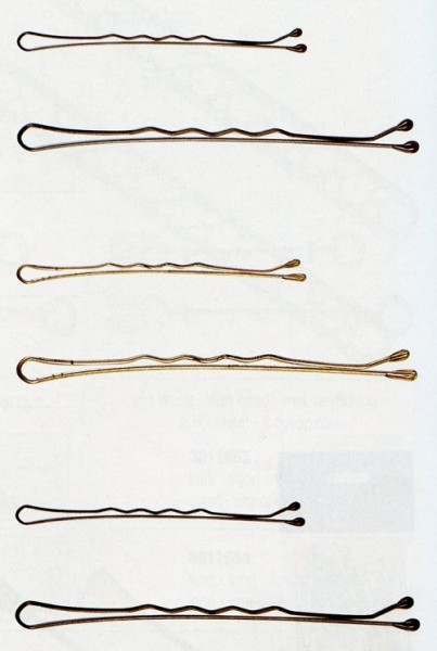 Haarklemmen schwarz gewellt 7cm, 24er Karte